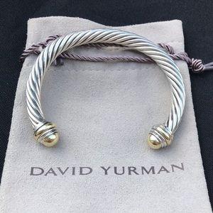 David Yurman cable bracelet 925 585 8mm DY 14k